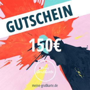 150 Euro-Gutschein auf meine-grusskarte.de
