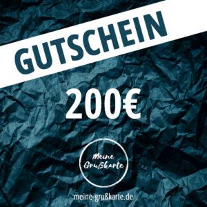 200 Euro-Gutschein auf meine-grusskarte.de