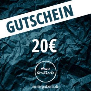 20 Euro-Gutschein auf meine-grusskarte.de