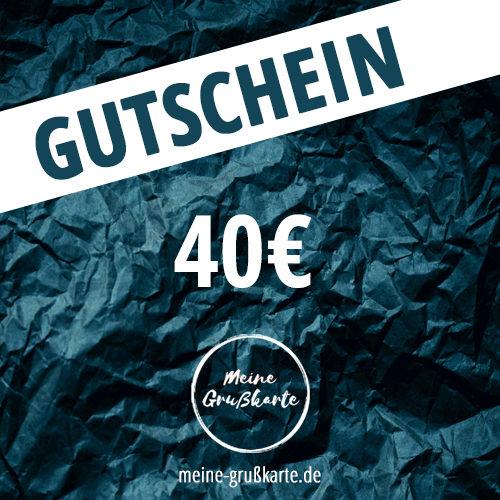 40 Euro-Gutschein auf meine-grusskarte.de