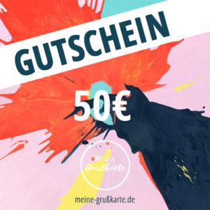 50 Euro-Gutschein auf meine-grusskarte.de